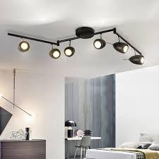 modern retro track lights living room led light industrial