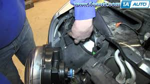 how to install replace change headlight and bulb 2005 07 jeep