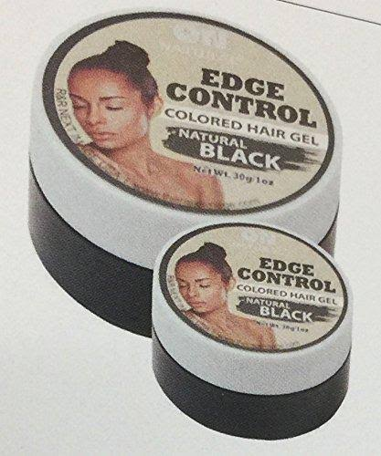 on Natural Edge Control Hair Colored Gel, Natural Black, 1 Ounce