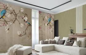 casa padrino luxus vorhang set vögel beige mehrfarbig 250 x h 290 cm bedruckte leinen samt vorhänge ösenvorhänge schiebevorhänge luxus