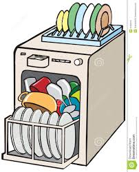 Clip Art Unloading Dishes Clipart 1
