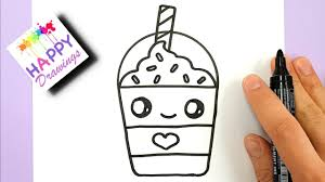 How To Draw A Starbucks Frappuccino Cute And EASY