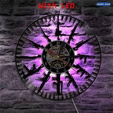 kugel zeit led vinyl uhr licht farbwechsel kunst wand licht fernbedienung hintergrundbeleuchtung für soldat und fan