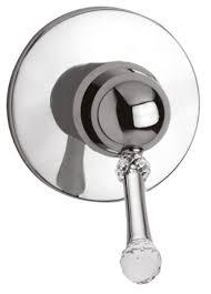 luxus dusch unterputz einhebelmischer mit swarovski kristallglas silber ø 11 5 cm badezimmer armaturen made in italy