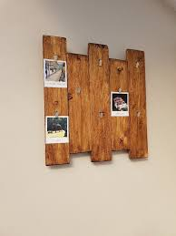 Rustic Polaroid Photo Picture Collage Wood Board Wall Decor
