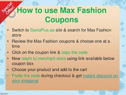 PPT - How To Use Max Fashion Promo Code In Dubai: Best ... Rivoli Shop Uae Coupon Codes Deals 70 Off January 20 Hm Code Promo 80 Sale How To Use Emirates Pinned November 27th 40 Off At American Eagle Outfitters To Use Coupon New Code Out Today 160617 Level Shoes Adat What Are Coupons And Rezeem Your Own Style With Aepaylessercom 20 Fashion Nova Schoolquot Get August 17th 75 More 30th Extra 50