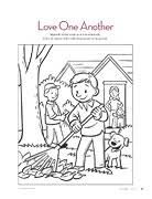 Fanciful Love One Another Coloring Pages Bible Christian Coloring