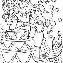 Ariels Wedding Day Coloring Pages