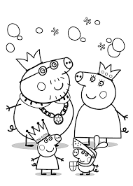 Peppa Pig Coloring Pages For Kids Printable Free