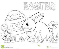 Coloring Pages Easter Bunny Games That You Can Print Face To Black