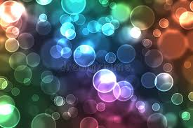 Colorful orbs of light stock illustration Illustration of