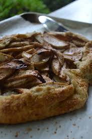 Close Up Rustic Apple Tart