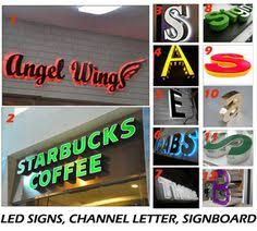 OUTDOORS facelit silver SIGNS led sign letters for sneakers shop
