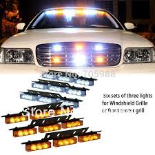 White Amber green blue 6x9 LED Snow Plow Car Boat Truck Warning Emergency Strobe Lights Indicator