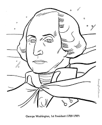 President George Washington Free Printable US Presidents Coloring Pages Learning Activities And Sheets Homeschool Aids