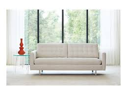 Rowe Furniture Sofa Bed by Rowe Modern Mix Contemporary Apartment Sofa With Straight Chrome