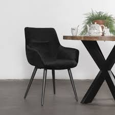 esszimmer stuhl samt schwarz vierfußstuhl küchenstuhl