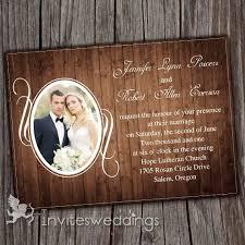 Vintage Rustic Wood Background Photo Wedding Invitations IWI257 Online InvitesWeddings