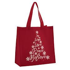 Believe Christmas Tree Tote Bag