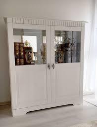 vitrine weiss vintage schrank anrichte spiegelschrank