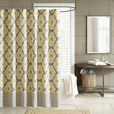 Yellow Gray Curtains Target by Colorful Curtains Shower Yellow And Grey Ikat Curtains Curtain