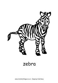 Zebra Colouring Page 2