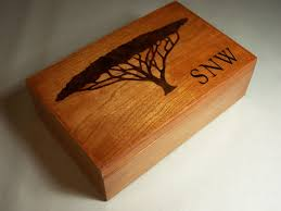 Dresser Valet Watch Box by Personalized Wood Jewelry Box Valet Box Acacia Tree Inlay