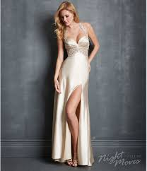 moves by allure 2014 prom dresses champagne charmeuse u0026 beaded