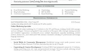 Digital Resume Example Entry Level Inbound Marketer Page Sensational Marketing Samples Manager Sample Examples
