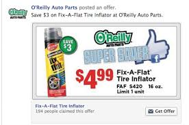 O'Reilly $3 Off Fix-A-Flat Tire Inflator, Coupon - Al.com Carvana 500 Discount Coupon Referral Code Delivered Electronically Enter Oreilly Auto Feedback Survey Sweepstakes Organic Bouquet Coupon Code Print Whosale Auto Parts Tomorrow St Louis Blues 90 Ryan 2019 Nhl Allstar Black Jersey Parts Rodeo Save 5 25 Off Bowler Performance Tramissions Promo Codes Top Company Store Aztec Cupcake Coupons Ronto Lake Family Campground Fanatics Authentic 12 X 15 Stanley Cup Champions Sublimated Plaque With Gameused Ice From The Textexpander Take Control Of Automating Your Mac 2nd