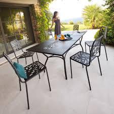 mobilier jardin metal table de salon de jardin pas cher