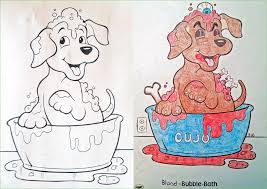 Illustration From Childrens Coloring Books That Have Been Twisted And Corrupted By Darkly Humorous Adult