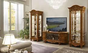 wohnzimmer komplett tv set nussbaum hochglanz barockstil
