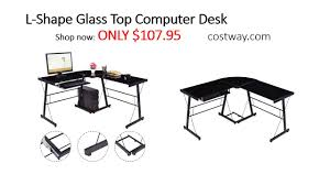 Ameriwood L Shaped Desk Assembly by Costway L Shape Glass Top Computer Desk Assembly Instructions