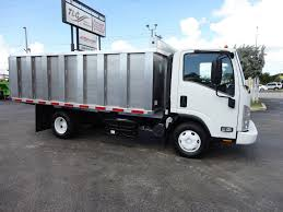 2012 Used Isuzu NPR 14FT ALUM TRASH DUMP TRUCK...NEW AD FAB DUMP ...