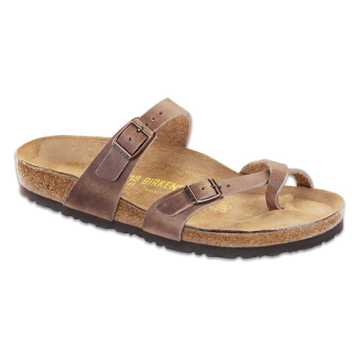 Birkenstock Womens Mayari Sandal - Tobacco Oiled Leather, Size 40