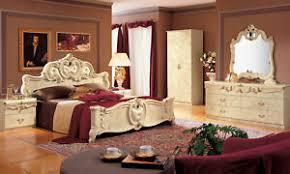 schlafzimmer komplett set beige hochglanz italienische möbel