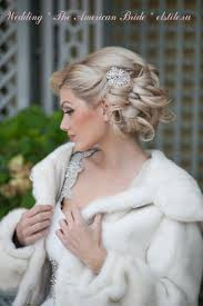 Wedding Hairstyle With Curl Ed Updo Snowflake Diamonte Hair Clip Neutral Make Up