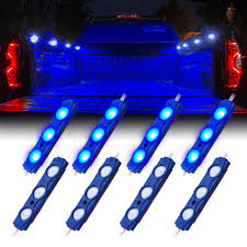 8 Blue LED Rock Light Pods Truck Bed Lighting Kit | Xprite 60 Trailer Turn Signal Truck Reversing Brake Running Drl Tailgate Bed Tool Box Light Kit With Autooff Delay Switch 4pc 12inch 201518 Ingrated F150 Cargo Area Premium Led Lights F150ledscom Led Lights For Of Decor 8 Blue Rock Pods Lighting Xprite Multi Color 4 To 6 Boogey Amazoncom Mictuning 2pcs White Strip Magnetic Under The Rail Lux Systems 92 5 Function Trucksuv Bar Reverse Strips Trucks