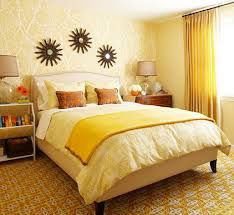 Creative Decoration Yellow Bedroom Ideas Pale Walls White Furniture D House Free