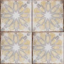 Artistic Tile San Carlos Ca by Hand Painted Yellow Gray Off White Terracotta Tabarka