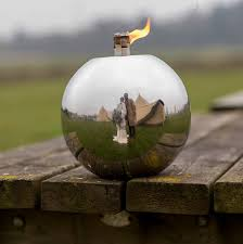 Citronella Oil Lamps Uk by Round Ball Stainless Steel Garden Oil Lamp By Za Za Homes