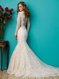 lace mermaid wedding dresses with sleeves naf dresses