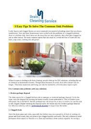 Unclogging A Kitchen Sink With A Disposal by 3 Easy Tips To Solve The Common Sink Problems