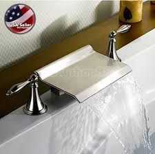 bathroom faucet brushed nickel finish skyshop usa lower price