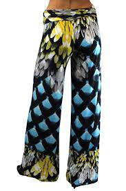 designer palazzo pants printed wide leg leggings stretchy high