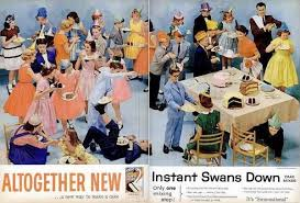 You Can Imagine The Cake Being Served At A Party Full Of Young Mid Century Teens Like In Advertisement Below