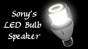 sony showcases led light bulb speaker at ces 2016