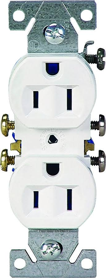 Cooper Wiring 270W Grounded Duplex Receptacle, White