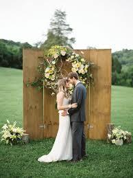 Mint Door Wedding Backdrop Rustic Fall Ceremony